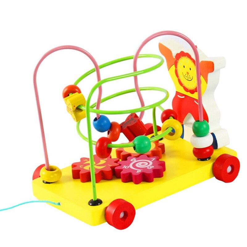 Clowns Around The Beads Trailer Children Wooden Toys