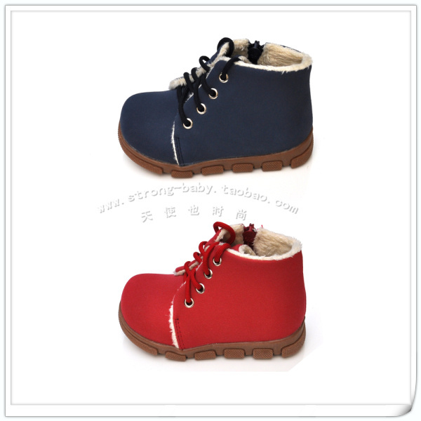 Cow muscle outsole handsome warm boots cotton-padded shoes baby infant snow boots toddler shoes