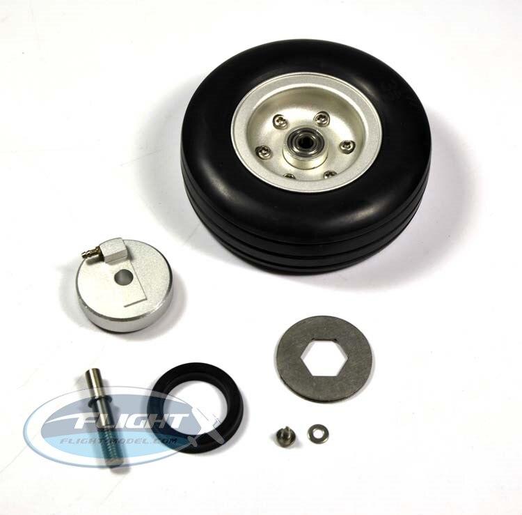 1 jeu de roue en caoutchouc RC de haute qualité avec essieu de frein pour système de freinage Viper avion