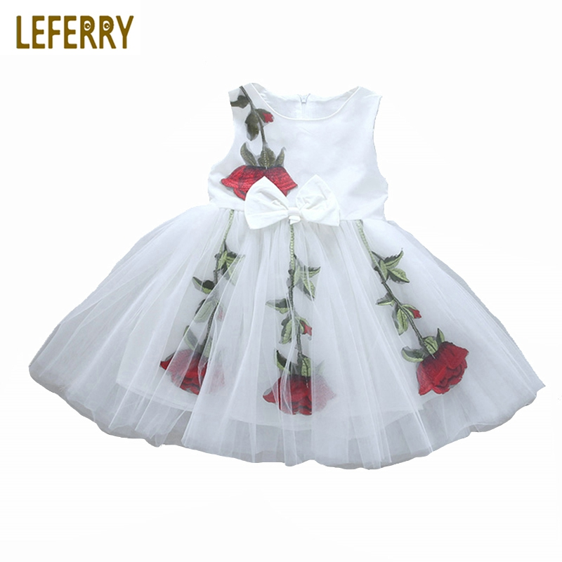 2018 Summer Kids Girls Dresses Baby Girls Clothing Floral Mesh Sleeveless Kids Dresses for Girls Toddler Princess Dress Fashion 2017 summer girls dresses toddler baby girl ruffle floral sleeveless dress sundress briefs bottom 2pcs set flower girls dresses