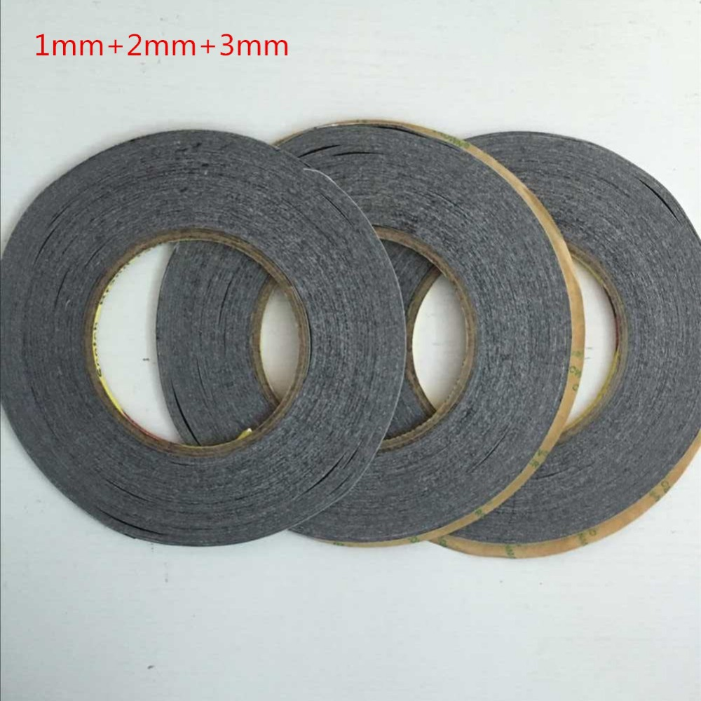 1mm+2mm+3mm 150Meter 3M Double Sided Adhesive Tape for Touch Screen /Display /Housing /Case /Cable Sticky free shipping szbft 1mm black brand new 3m sticker double side adhesive tape fix for cellphone touch screen lcd free shipping