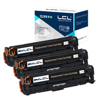 LCL 305X 305 CE410X CE410 410X CE 410 X 3 Pack Compatible Toner Cartridge For HP