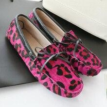 Hot Sale 2016 New arrival Women flats women genuine Horsehair shoes flat moccasins woman casual shoes 5 colors plus size 35-41