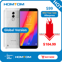 HOMTOM S99 Face ID 6200 мА/ч, 4 GB 64 GB смартфон 5,5-дюймов безразмерная 21 + 2 Мп двойные задние камеры Android 8,0 мобильный телефон с определением отпечатка пальца