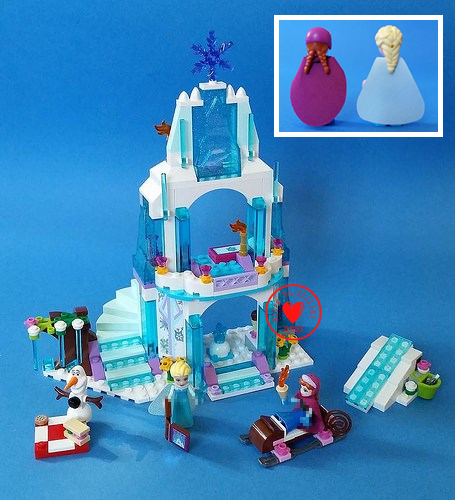Dream princess Arendelle Castle Building Blocks Princess elsa Anna Olaf Brick toy Friends Compatible with lego kid gift Set oasis gh 80n