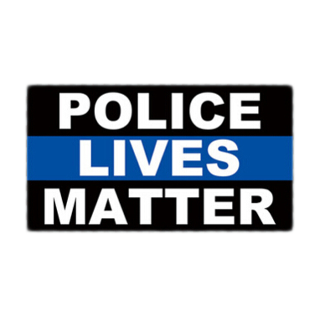 THIN BLUE LINE POLICE LIVES MATTER AMERICAN FLAG METAL NOVELTY LICENSE PLATE