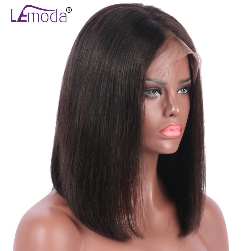 Lemoda Short Lace Front Human Hair Wigs 8 12 Inch Bob Wig