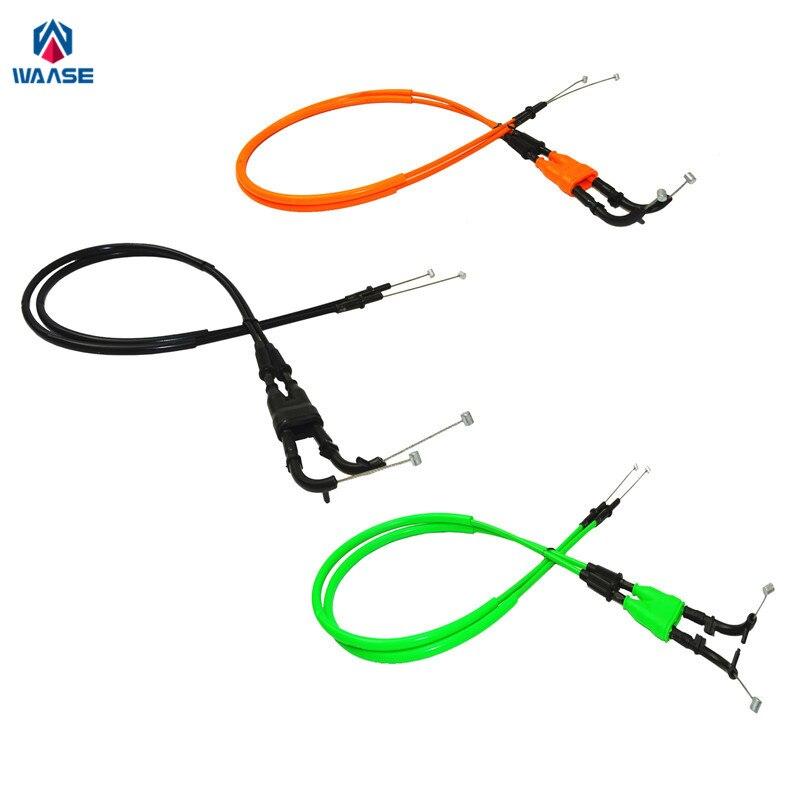 waase 2pcs Motorcycle Throttle Cable Steel Wire For Kawasaki Ninja ZX-6R ZX6R 2009 2010 2011 2012 2013 2014 2015 2016