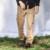 Khaki pantalones cargo de los hombres de montaña al aire libre pantalones hombre pantalones de trabajo de bolsillo lateral con cremallera pantalones de algodón ocasional de la nueva manera 2