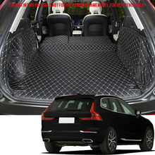 Interior Black Leather Rear Trunk Boot Mats Carpet Trim For Volvo XC60 2018