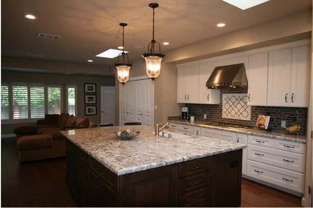 2017 armarios de cocina de madera maciza con granito de mesa armadio ...