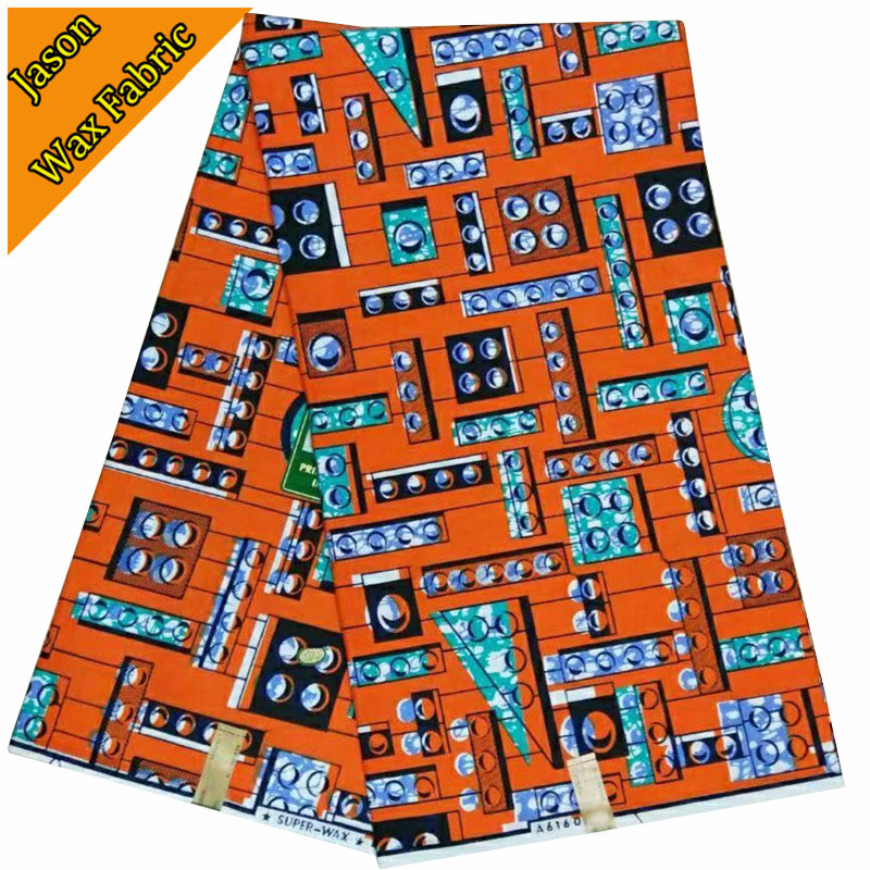 Fashion African Ankara wax prints fabric veritable real dutch wax 6yards super wax hollandais for party dress / KW