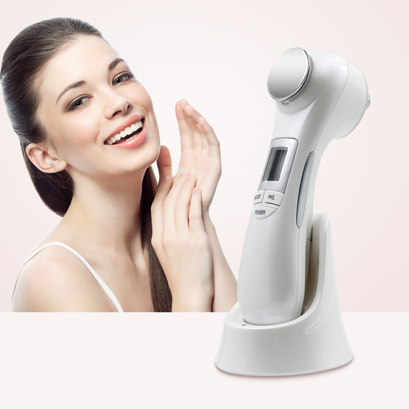 5 in 1 LED RF Photon Therapy Facial Skin Lifting Rejuvenation Vibration Device Machine EMS Ion Microcurrent Mesotherapy Massager therapy ultrasonic rf facial machine fractional micro ance needle rf and galvanic facial lifting device