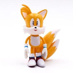 Image 5 - 6 ชิ้น/เซ็ต 7 ซม.Sonicตัวเลขของเล่นPvcของเล่นSonic Shadow Tailsตัวการ์ตูนรูปของเล่นสำหรับเด็กสัตว์ของเล่นชุดของเล่นจัดส่งฟรี