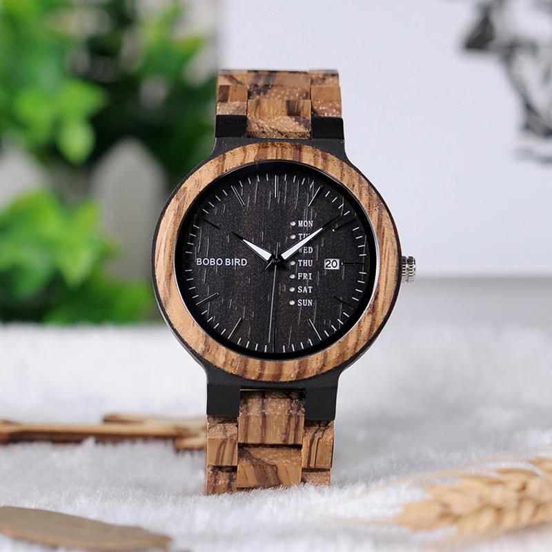 Zegarek drewniany Bobo Bird Data Dark O26-2 6