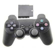 Negro para ps2 controlador de juegos inalámbrico doble de vibración gamepad joystick para playstation 2