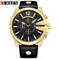 Curren männer Beiläufige Sport Quarzuhr Herrenuhren Top marke Luxus Quarz Uhr Lederband Militäruhr Handgelenk männlich Clock-in Quarz-Uhren aus Uhren bei