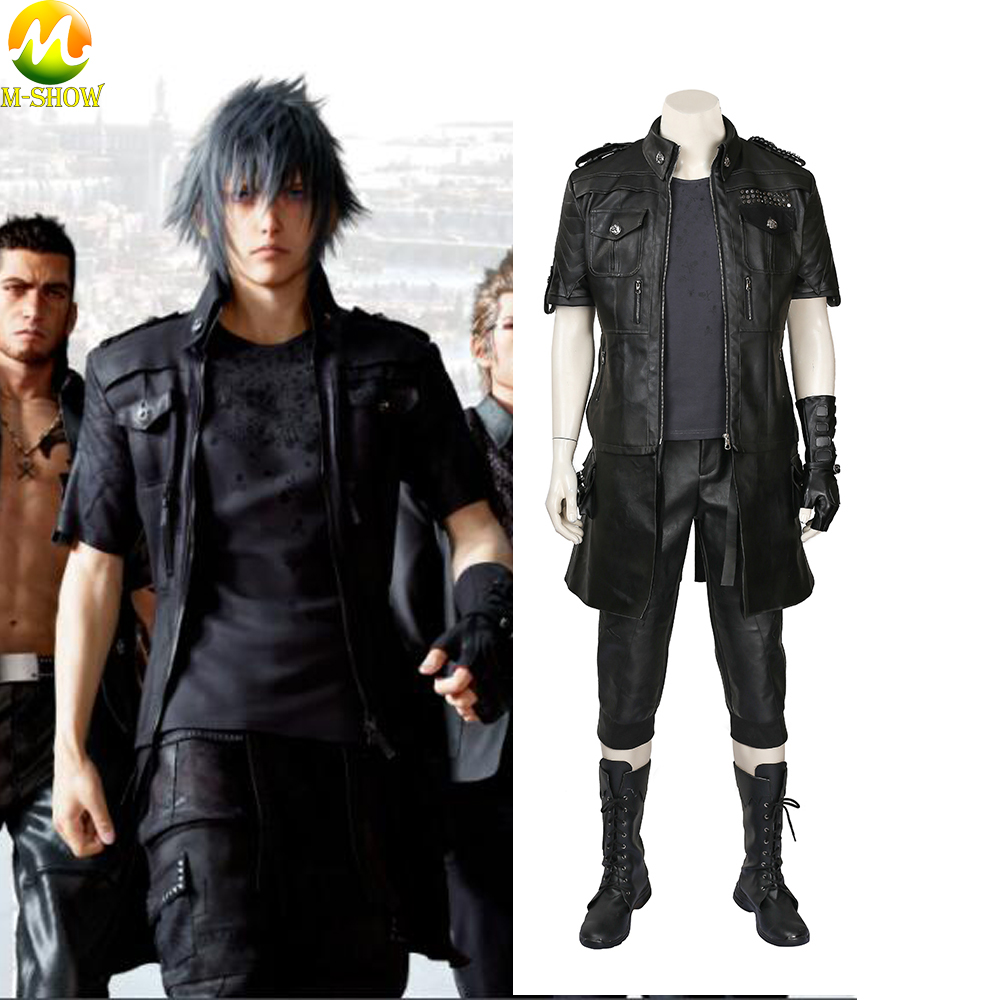 Final Fantasy XV FF15 Noctis Lucis Caelum Noct Cosplay Costume Halloween Outfit Costume Full Set For Men Custom Made