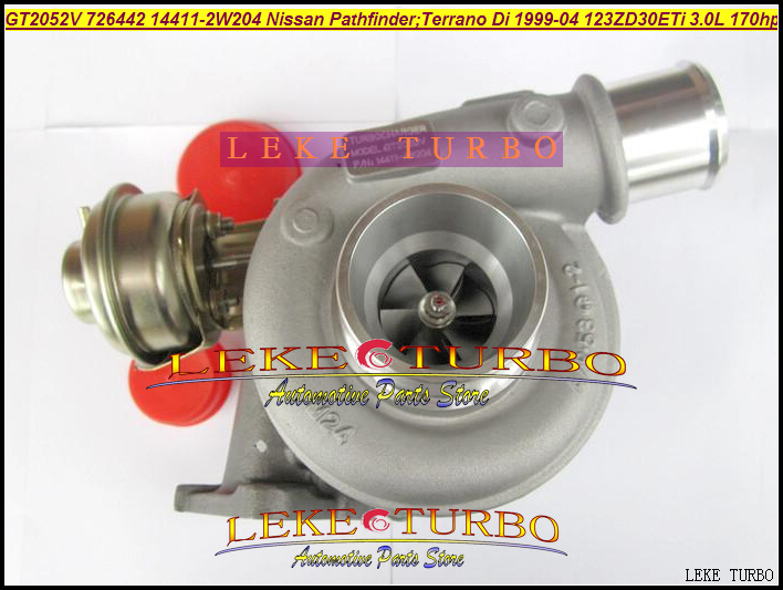 Turbo GT2052V 726442-0004 726442 14411-2W204 14411-2W20A Turbine Turbocharger For NISSAN Pathfinder TERRANO ZD30ETi 3.0L D 170HP