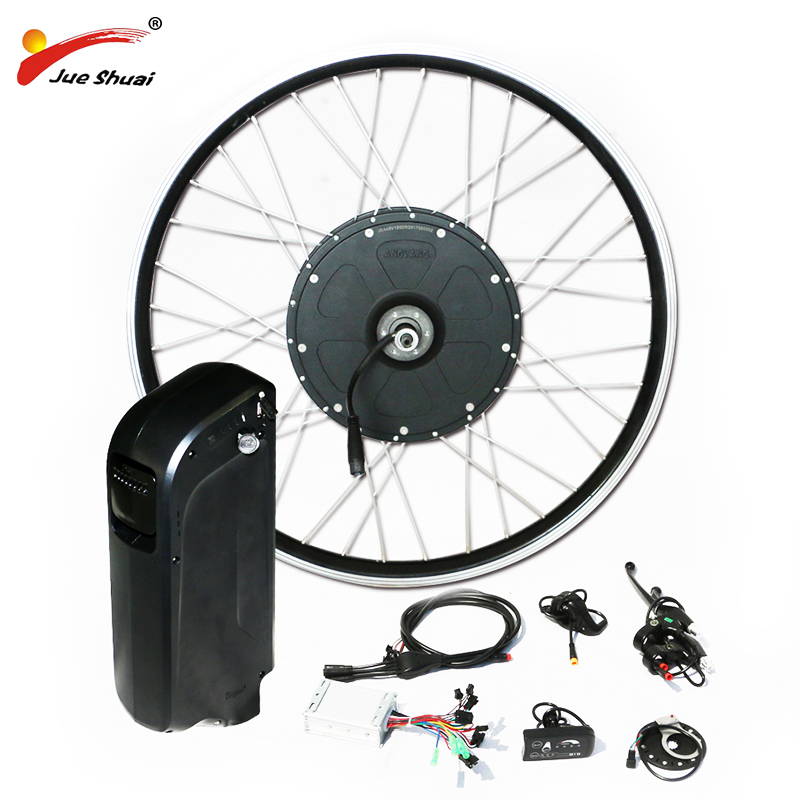 Promotion des ventes 1000 w Puissant Kit De Vélo Électrique avec 48 v Batterie De bouilloire Moteur de Moyeu de Roue pour Graisse VTT Montagne vélo De neige 4.0*26