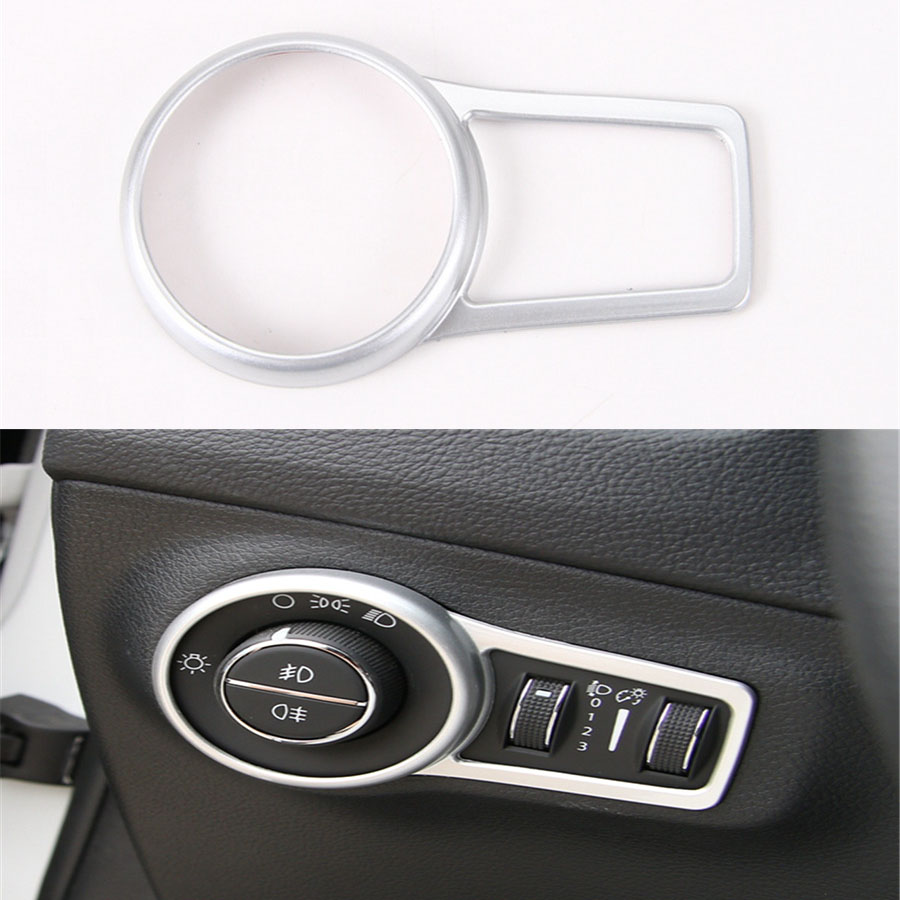 YAQUICKA For Jeep Compass 17 Interior Headlight Lamp Button Switch Decorative Trim Frame Ring Sticker Cover ABS Car Styling in Interior Mouldings from Automobiles Motorcycles