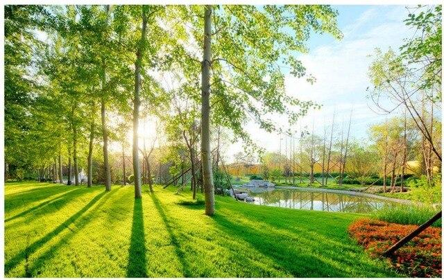3d Landschaft Garten Landschaft Hintergrund Mural Landschaft Tapeten