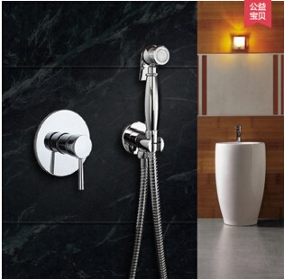 High Quality In Wall Bathroom bidet shower faucet mixer toilet spray bidet shower set include hand shower gun bidet taps 2017 wholesale new premium high quality gold bidet mixer faucet taps