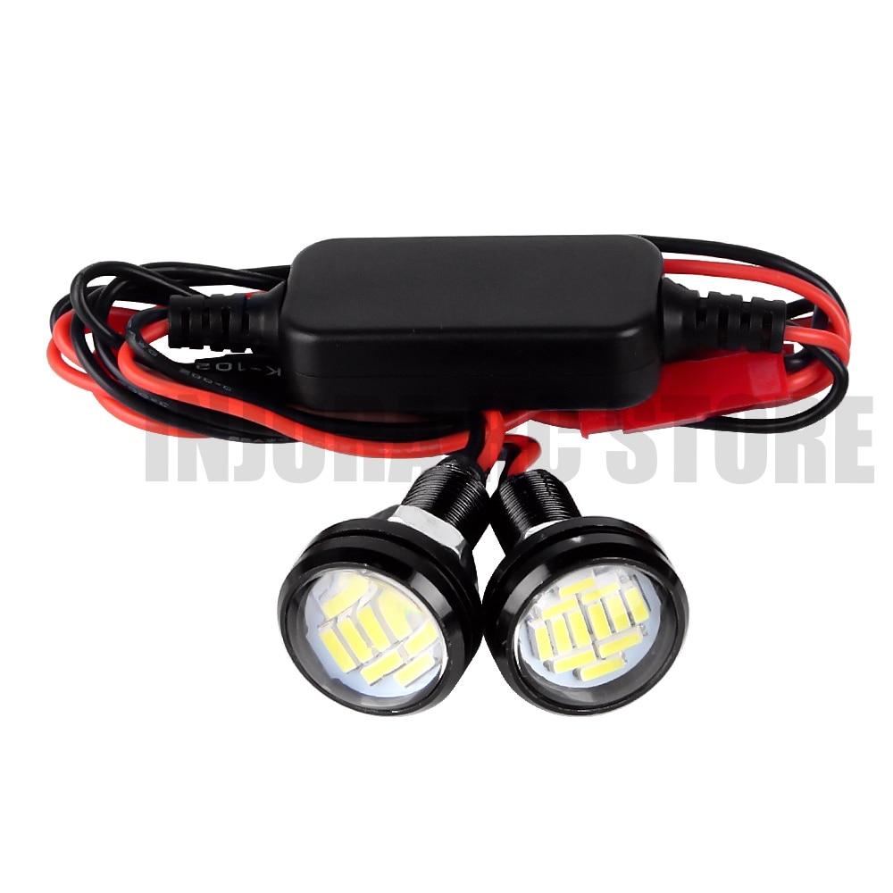 Phare de LED de voiture RC 22 MM avec interrupteur marche-arrêt pour camion de Course courte Traxxas 1/10