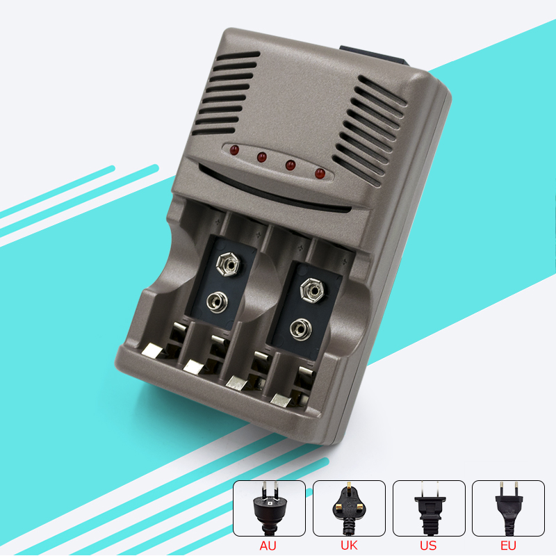 Пало 4 слота свет <font><b>Smart</b></font> Батарея Зарядное устройство для Ni-MH Ni-Cd AA AAA Ni-Cd Li-Ion 9 В 6F22 Аккумуляторы