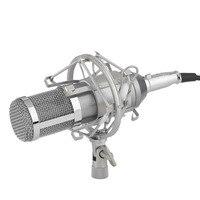 Professional Condenser Sound Recording Microphone With Mount Holder For Karaoke Radio Braodcasting Singing Pro Audio Studio