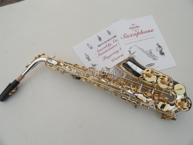 Cheap The wholesale manufacturers Very beautiful gift suzuki alto saxophone surface silver