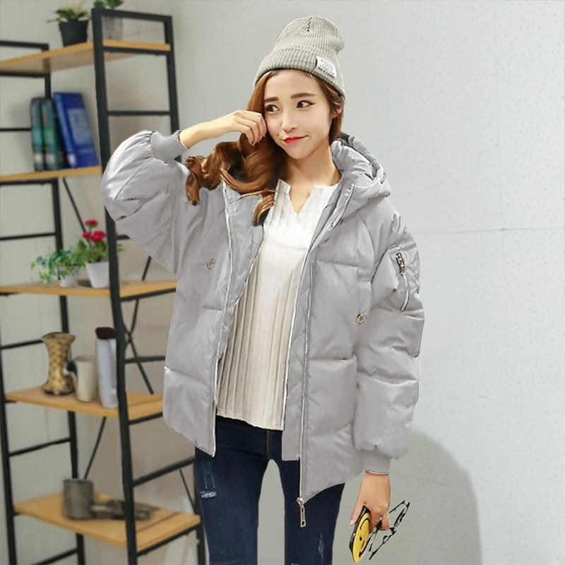 TAJIYANE Inverno 2018 Cappotto Donne Coreane Harajuku Nero Streetwear Giacca Cappotti Caldi Con Cappuccio Giù Parka In Cotone Chaqueta Mujer ZL311