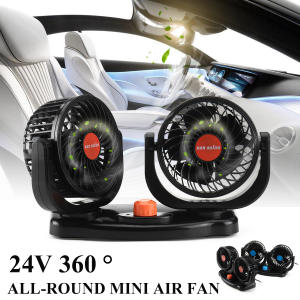 24 V 360 Degree Mini Rotating All-Round Adjustable Car Auto Air Cooling Dual Head