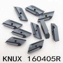 Herramienta de corte KNUX 160405, hoja de herramienta de torneado de acero, insertos KNUX160405R, 10 Uds.