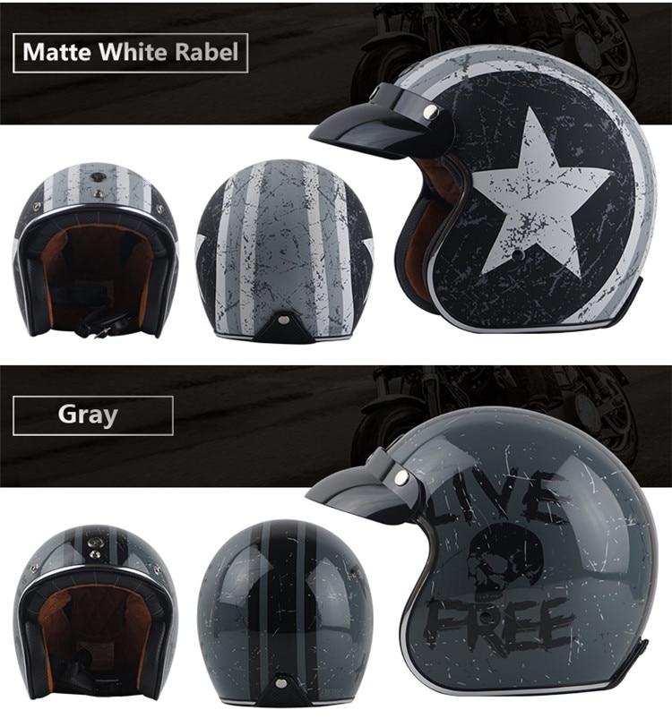 Cheap retro open face helmet