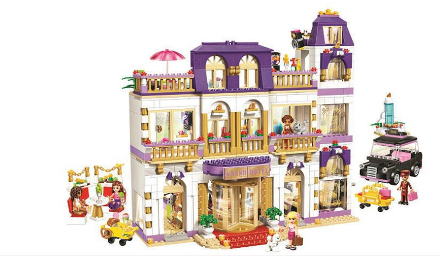 BELA 10547 Girls Friends Heartlake Grand Hotel Building Blocks Kid Model DIY Bricks Toys gift Compatible with Lepin lepin 01045 1676pcs girls series heartlake grand hotel set children eucational building blocks bricks toys model gift 41101