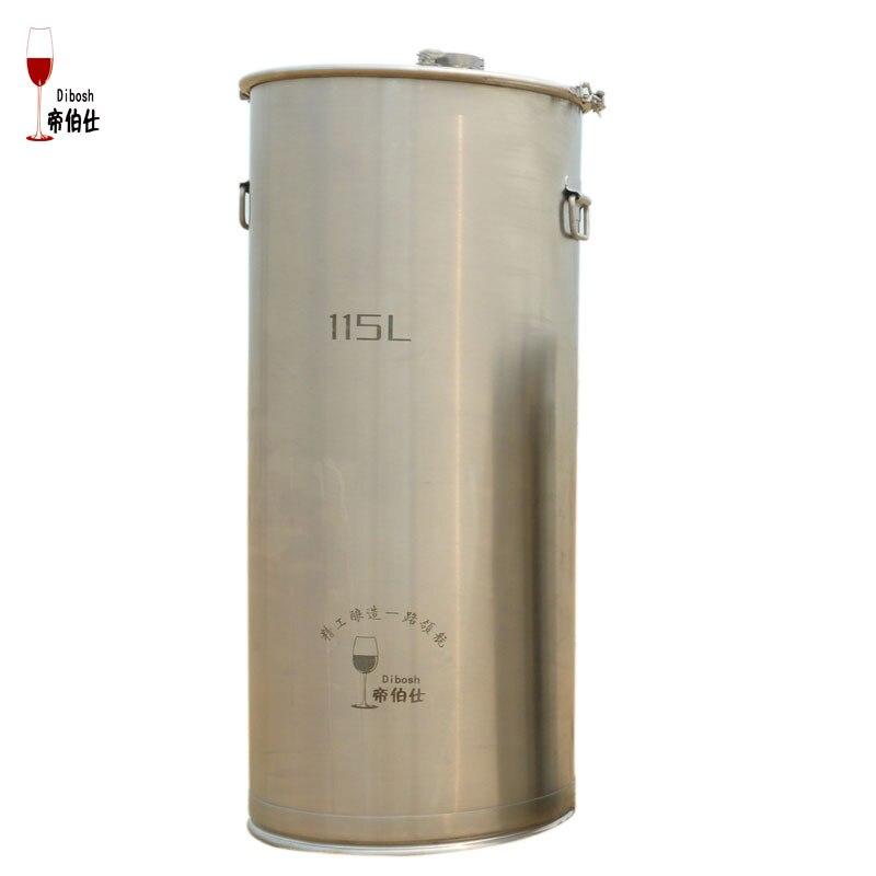 115l 304 Нержавеющаясталь ведро домашнего пивоварения брожения вина танк и охладители для пива с якоря ухо Дизайн контейнер для хранения