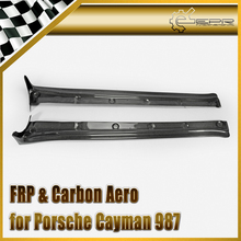 Car-styling Carbon Fiber EPA Style Side Skirt Extension Glossy Fibre Door Step Auto Body Kit For Porsche Cayman 987 2006-2012