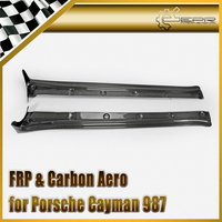 Car styling Carbon Fiber EPA Style Side Skirt Extension Glossy Fibre Door Step Auto Body Kit For Porsche Cayman 987 2006 2012