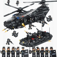 1351pcs City Swat Team Special Police Force Helicopter Building Blocks Compatible Legoed Technic City Army Bricks Toys For Child