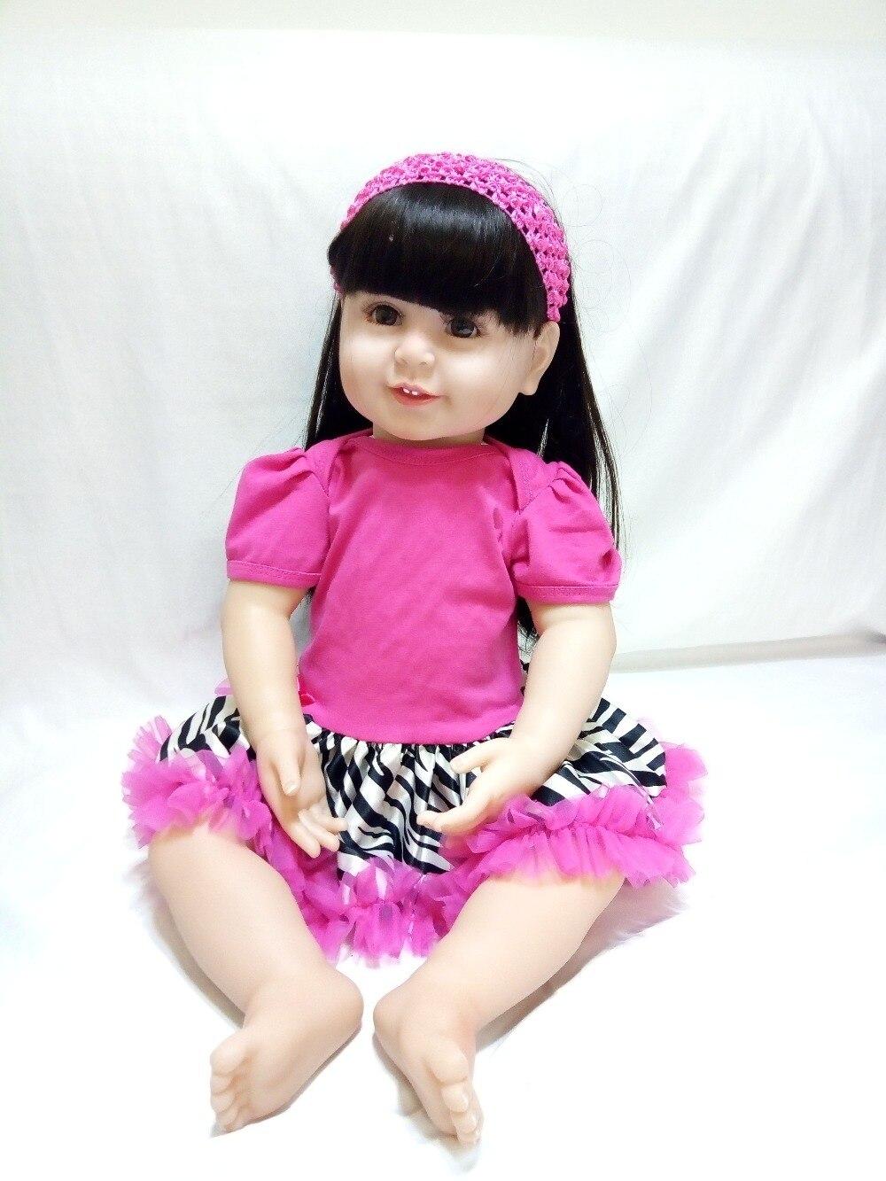 Muñecas de bebés renacidos de silicona rosa vestido de vinilo rojo - Muñecas y accesorios - foto 2