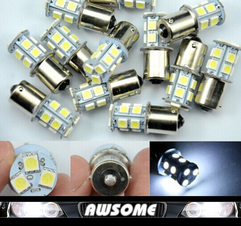 HOT!!! 10x 1156 BA15S P21W Led Light Bulb 12V 13SMD 5050 Side Tail Turn Backup Reverse Light Source Bulb White/Yellow/Red