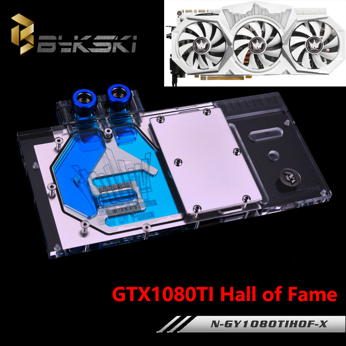 BYKSKI Full Cover Graphics Card Water Cooling GPU Block use for GALAXY GTX1080TI HOF N-GY1080TIHOF-X with RGB Light цена 2016