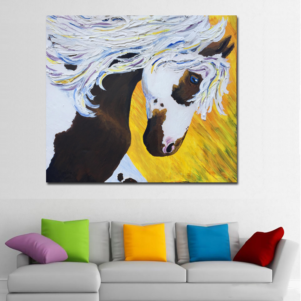 Fanciful Horse Print Wall Art Painting Abstract Canvas Art Printed ...