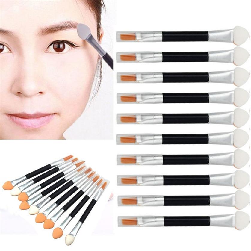 10 Unids Pinceles de Maquillaje Sombra de Ojos Pincel delineador de ojos de Doble extremo Belleza Accesorios de Maquillaje Herramienta Aplicador de Esponja maquiagem May03 #2
