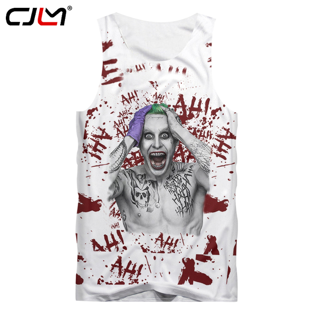 326d44343 CJLM Men Clothes 2018 Summer Cool Print Suicide Squad Joker 3D Tank Tops  Man Singlet Hip Hop Crewneck Sleeveless TankTop 5XL