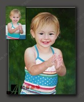 modern TOP ART customize service oil painting child portrait from photo picture 100% hand painted 24x36 inch free shipping