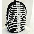 IVI Bookbag Mochilas A Prueba de agua de Nylon de Moda Punk Skull Printed Gran Esqueleto Mochila Bolsa de la Escuela de Las Muchachas Bolsa de libros