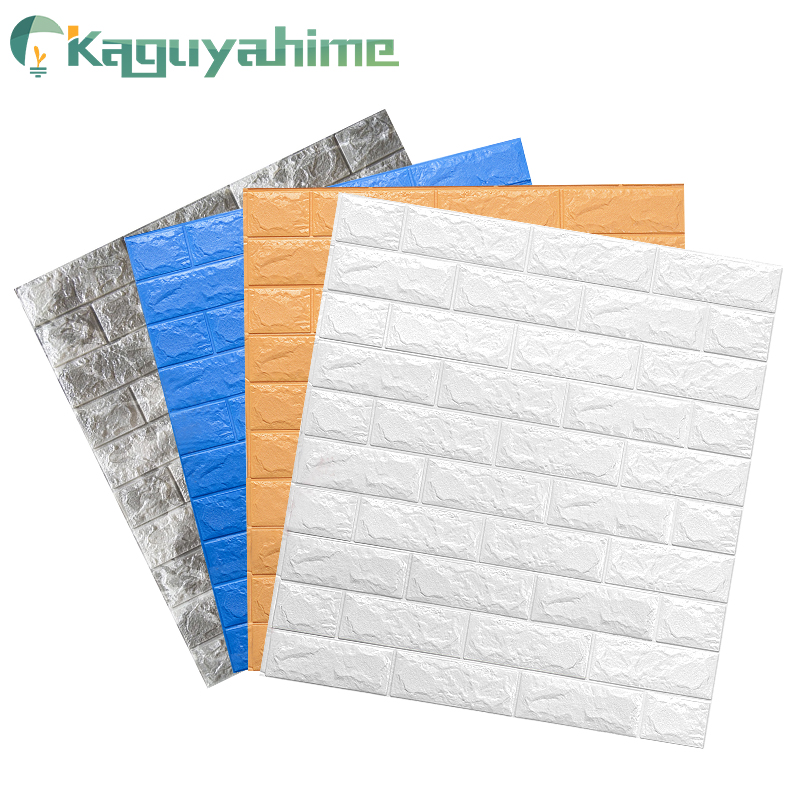 Kaguyahime 3d Wallpaper Brick Diy Stickers Self Adhesive Tv Backdrop Decor For Kids Room Kitchen Waterproof Wall Decor Sticker