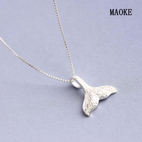Promotions 925 Silver Necklace Creative Mermaid Tail Clavicle Chain for Women's Fashion Gifts